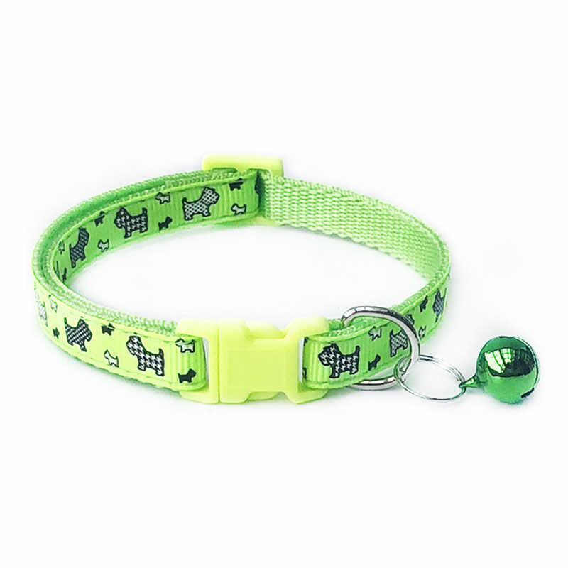 1pc 猫犬の首輪ベル漫画のプリントネックストラップ調節可能なバックル犬の首輪高品質犬ハーネスペット用品ホット販売