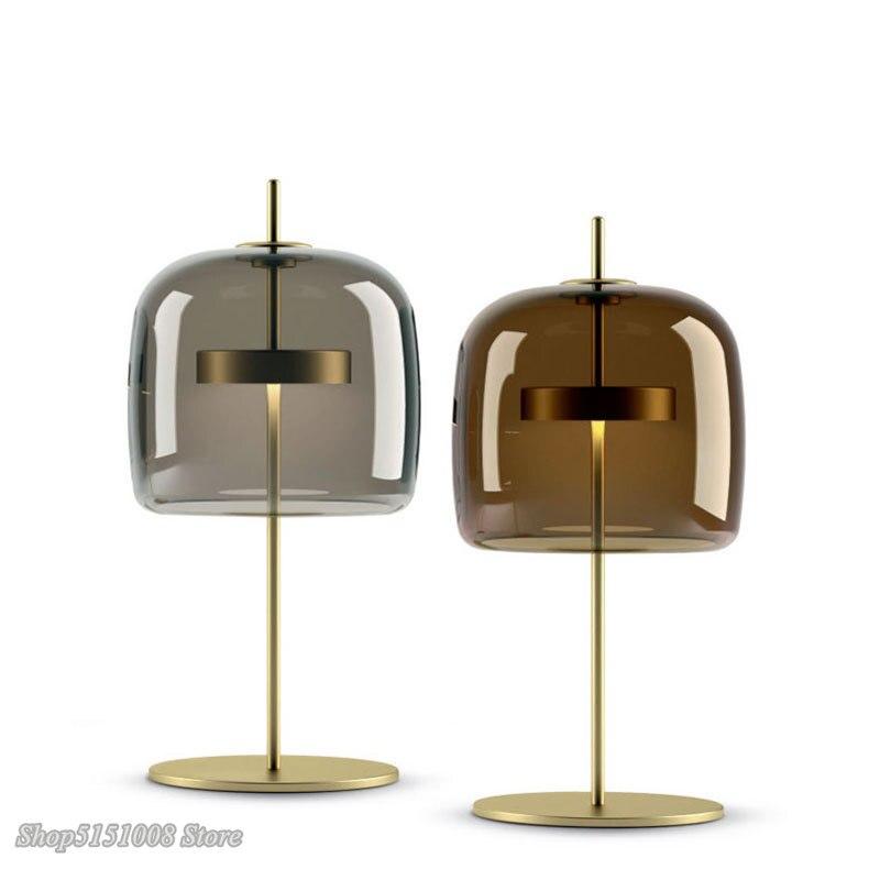 Скандинавские современные светодиодные настольные лампы, простые настольные лампы для гостиной, спальни, прикроватной тумбочки, креативные дизайнерские стеклянные настольные светильники, Декор|Настольные лампы|   | АлиЭкспресс - Красивое освещение с Али