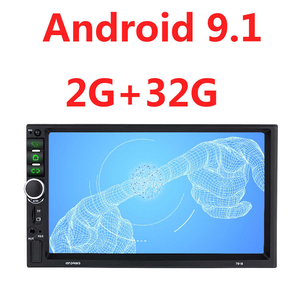 Universal Android 9,1 2G + 32G Radio de coche 2 Din Gps Bluetooth Autoradio Multimedia Audio estéreo de coche 2 bluetooth TF USB FM 45