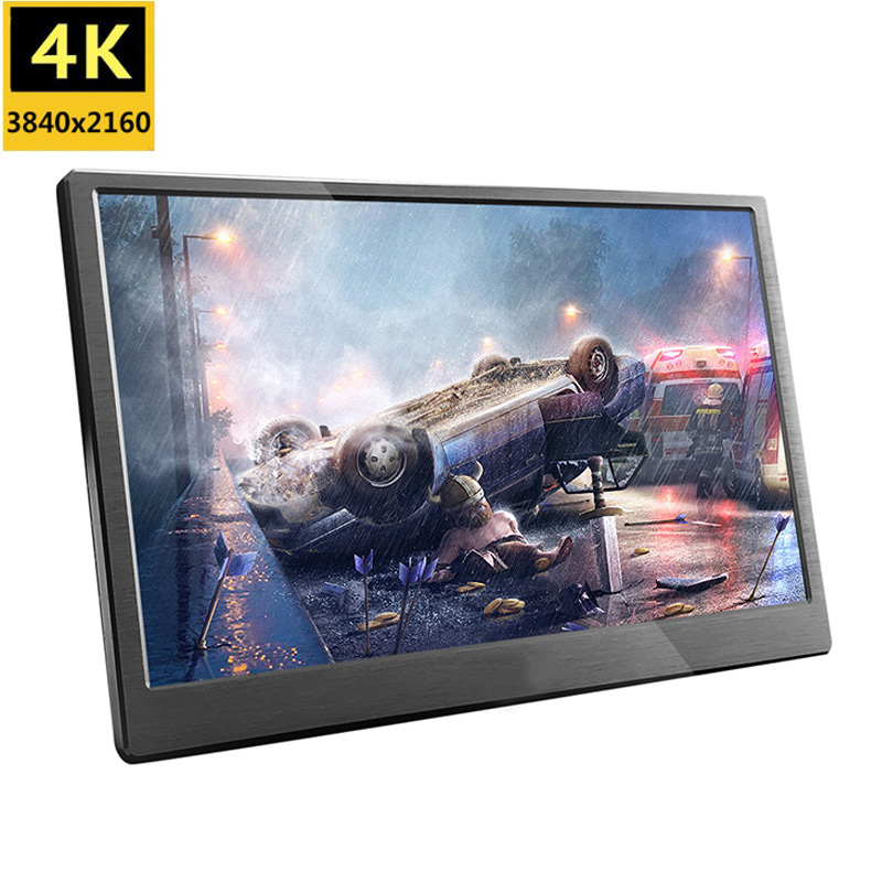 18.4 inch Full HD 3840X2160 4K IPS Portable gaming LCD Screen monitor PC for PS3 PS4 13.3 15.6 inch USB C mini Computer monitor image