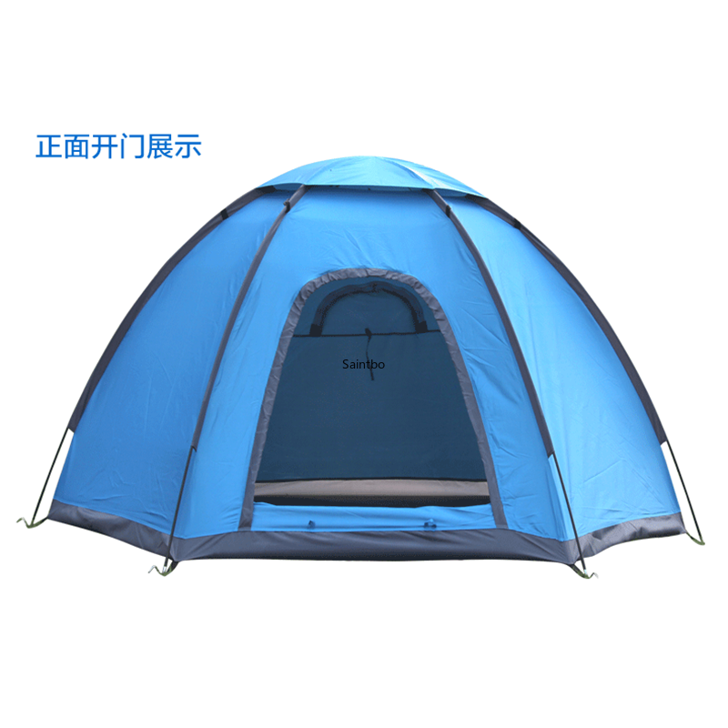 Foreign Trade Export Multi-person Hexagonal Tourism Tent Single-layer Camping Tent Four Seasons Tent Sunshade Tent kingcamp