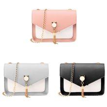Women Handbag PU Leather Satchel Shoulder Bag Tassel Tote La