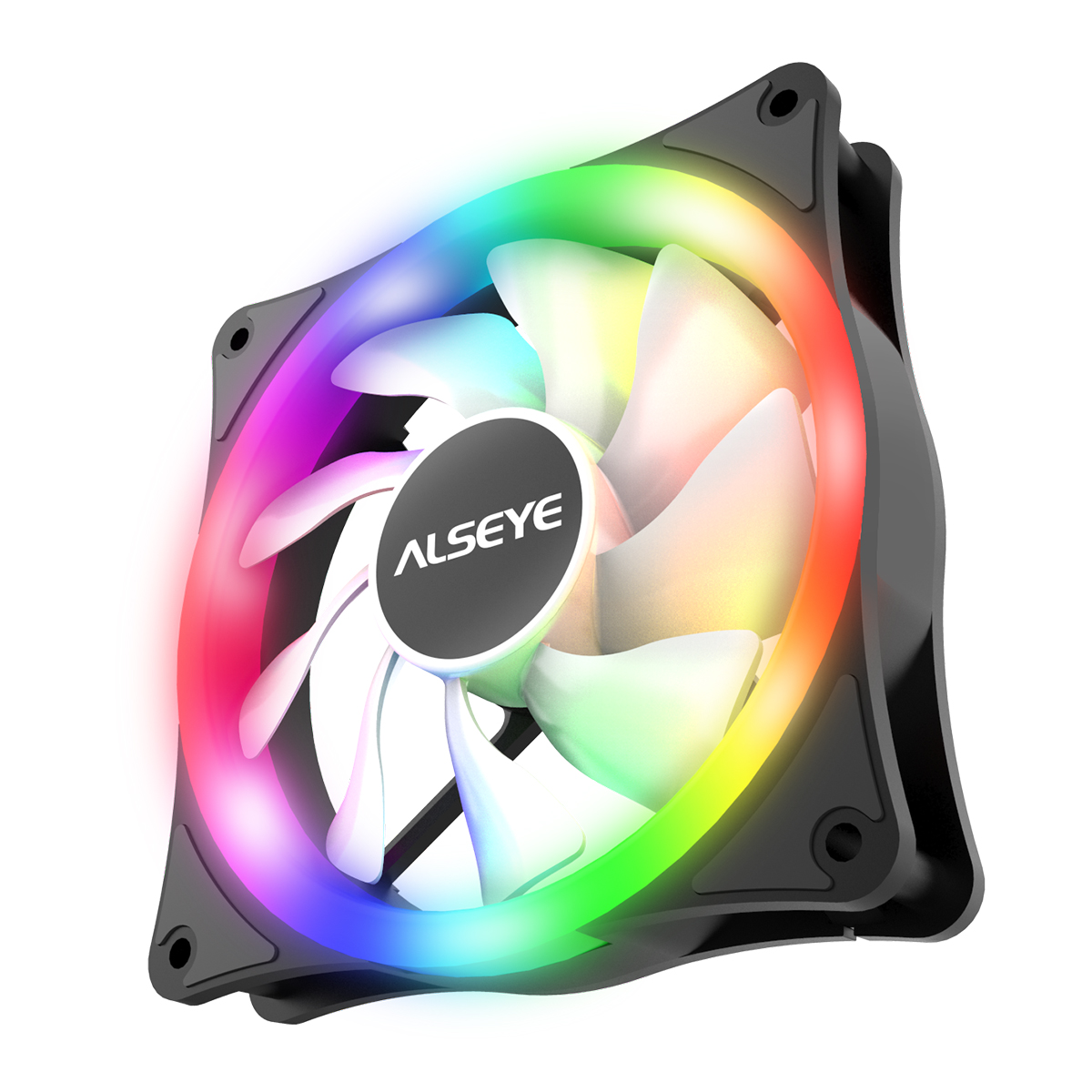 ALSEYE AURO Series <font><b>140mm</b></font> LED Computer Case Cooling <font><b>Fan</b></font> Molex Connector Auto Rainbow <font><b>RGB</b></font> image