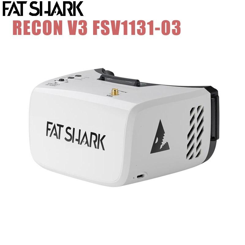 Fatrequin Recon V3 5.8GHz 32CH RaceBand 16:9 4.3 pouces 55 degrés 800x480 TFT affichage FPV lunettes casque vidéo avec batterie