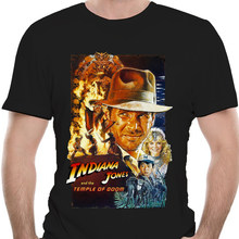INDIANA JONES AND THE TEMPLE OF DOOM v.2 Movie Poster T shirt Black all sizes Cool Casual pride t shirt men Unisex Fashion
