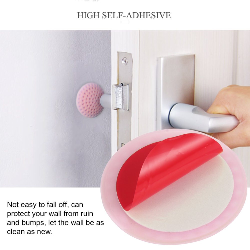 Protective Wall Thickening Mute Stick Rubber Fender Home Wall Sticker Pad ZX