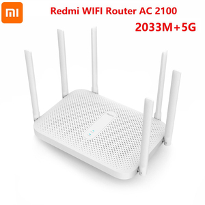 Xiaomi Redmi AC2100 Gigabit 2.4G 5.0GHz Dual-Band 2033Mbps Wireless Router WiFi Repeater With 6 High Gain Antennas Wider Wifi 6