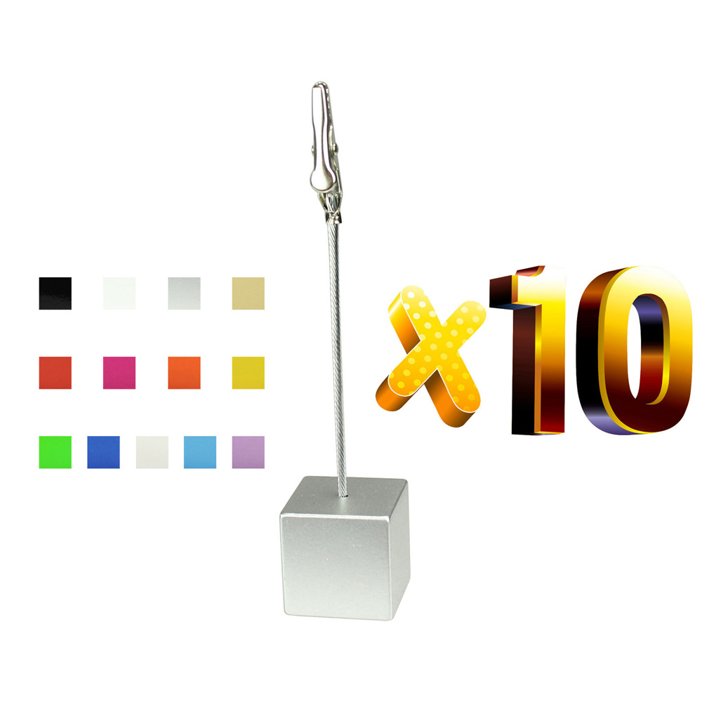 Lot 10pcs Cube Stand Photo Holders,Memo Note Clips,Table Wedding Place Card Clamp,Wholesale Personalized Giveaway Gift