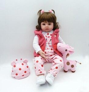 Image 5 - 19インチ48センチメートルベベ女のリアルな人形ベビー新生児のおもちゃ子供のためのクリスマスプレゼントや誕生日ギフト笑人形おもちゃ