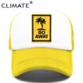 Кепка CLIMATE Go Away Кепка Дальнобойщика шляпа для отдыха на море и пляже, Кепка с кокосовой сеткой для отдыха, Кепка в стиле хип-хоп для мужчин, же...