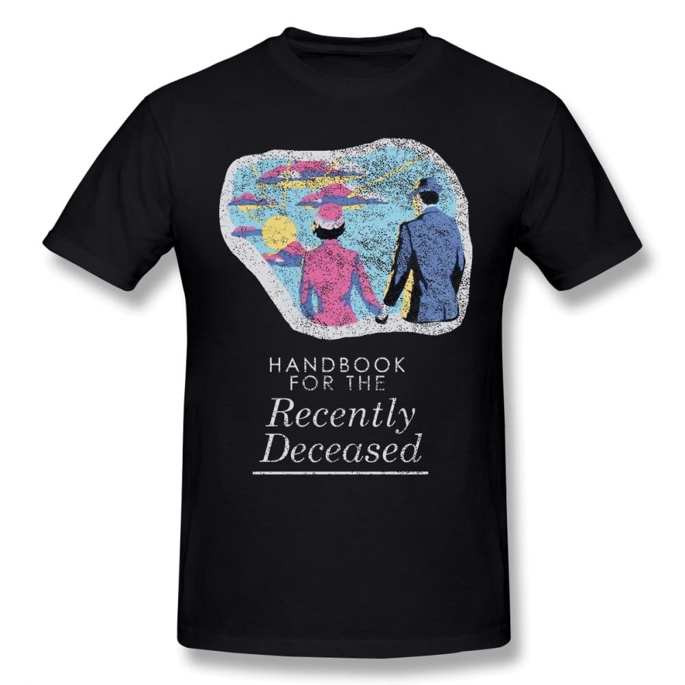 Beetlejuice T Shirt Handbook For The Recently Deceased Dark T-Shirt Summer Short Sleeve Tee Shirt Male Plus Size  Cute Tshirt