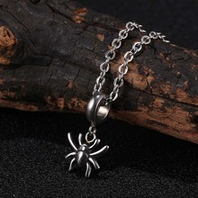 Mini Spider Pendant Necklace for Women Stainless Steel Jewelry Necklaces Unisex Fashion 24 inch