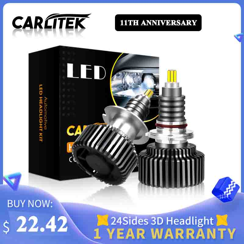 CARLitek 18000LM H11 led lamp 24 Sides 50W h7 12V Auto Light 72 PCS CSP Chips H8 9005 9006 HB4 HB3 LED car headlight H7 LED Bulb