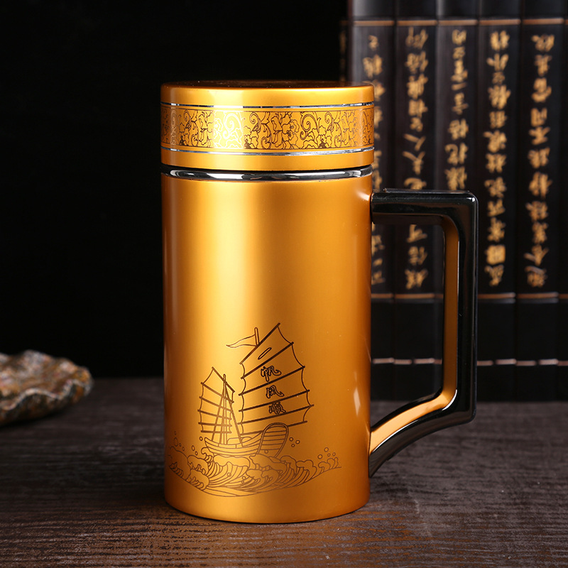 New student purple sand cup creative local gold High temperature resistance