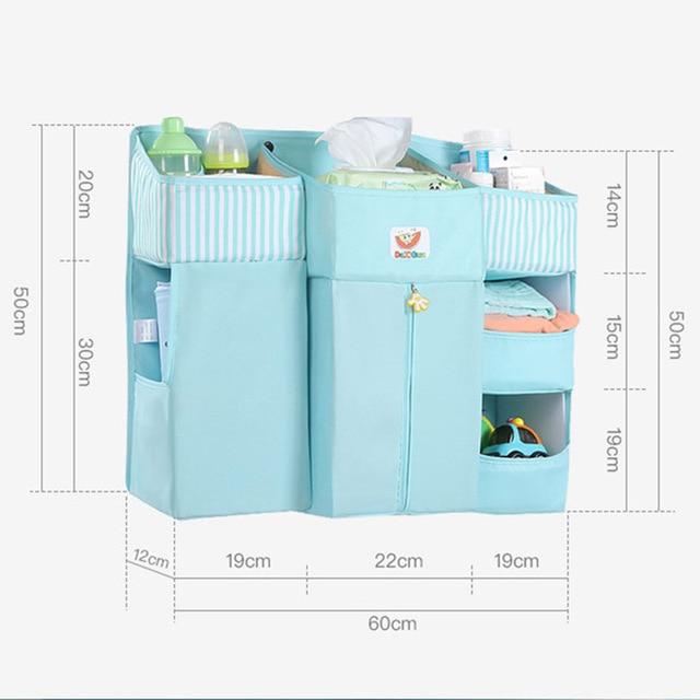 Baby Crib Bed Hanging Storage Bag Baby Bed Organizer Newborn Cot Crib Bedding Set Child Kid Storage Pockets Diaper Bag | Happy Baby Mama