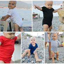 2020 Blank Baby Clothes Solid Design Short Sleeve Cotton Sum