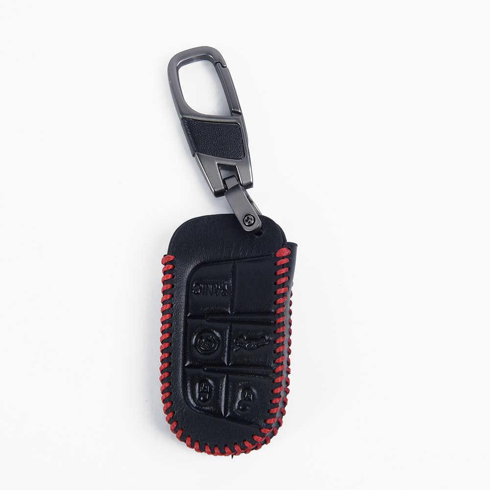 Chìa Khóa Ô Tô Vỏ 5 Nút Móc Khóa Trang Trí Bảo Vệ Cho Fiat Dodge Chrysler 300 Bảo Vệ Túi Ví Thẻ