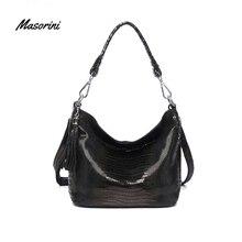 цены Hot Sale Elegant Crossbody Bags Women 2020 Handbags Lady Brands Shoulder Messenger Bag Geniune Leather Black
