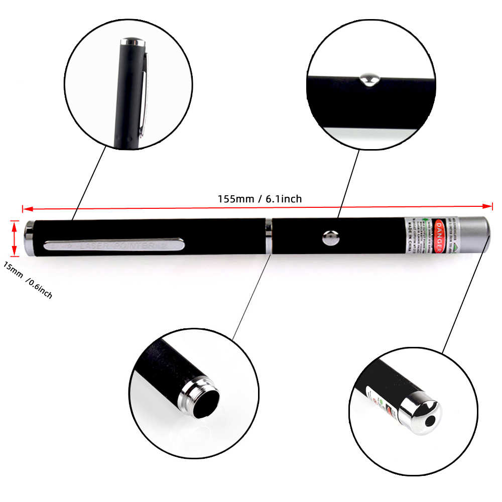 ירוק לייזר עט 5mw 530nm 405nm 650nm גבוהה כוח אדום לייזרים מצביע Sight עוצמה לייזר עט עבור משרד בית הספר