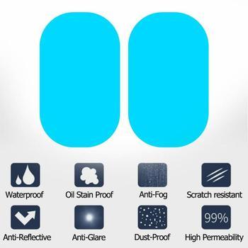 2 uds 95x135mm espejo lateral del coche Anti niebla película retrovisora antirreflejo película protectora impermeable para coche pegatina con herramientas