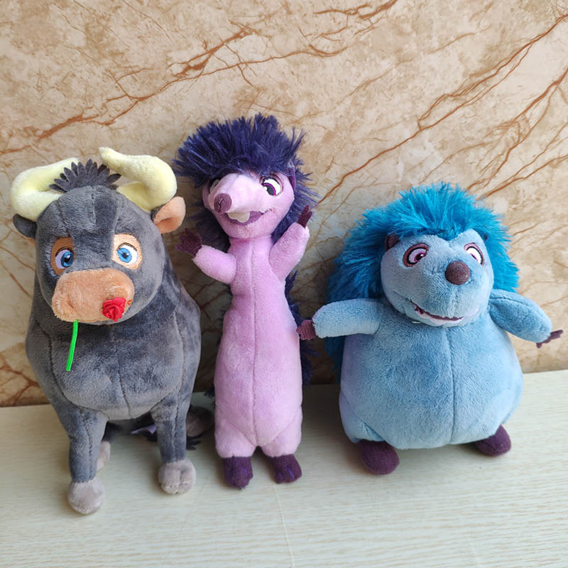 Ferdiand Bull Plush Toy With Rose Flower Kids Doll 20cm Good Quality Movie Stuffed Animal Doll Holiday Gift Boy Girl Hot New