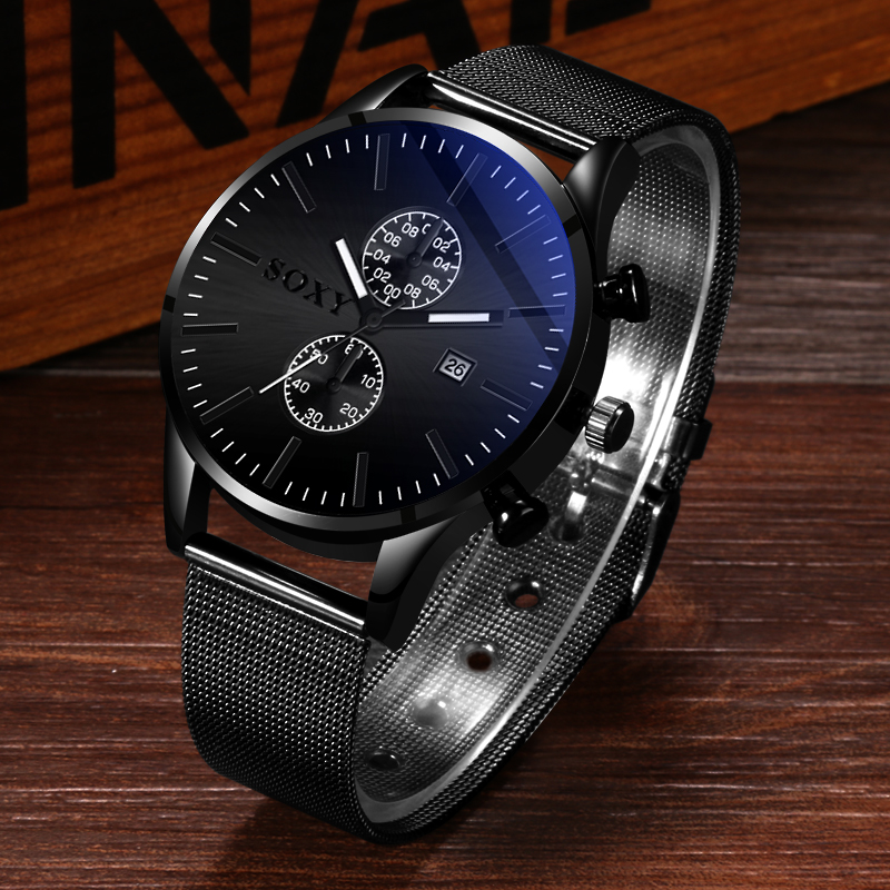 Reloj De Los Hombres Christmas Latest Design Leather Minimalist Stainless Steel Watch Men Hombre Chrono Watch Pulseira Masculina