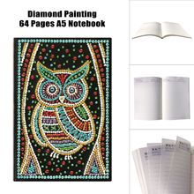 Diy Diamond Notebook Special Shape Owl 5d Painting A5 Diary Embroidery Sale Mosaic Picture Gift