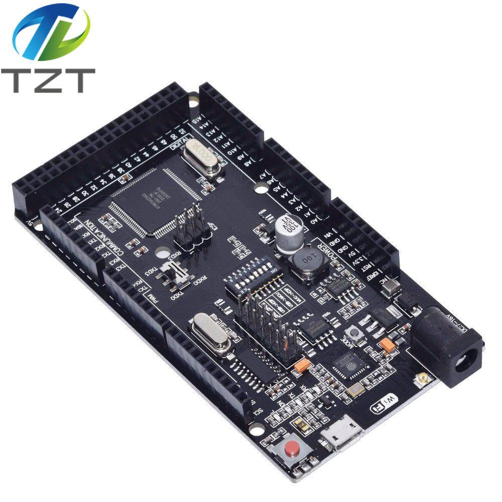 Mega2560 + Wi Fi, R3 ATmega2560 + ESP8266 32Мб оперативной памяти, USB TTL CH340G. Совместимость с Arduino Mega NodeMCU для WeMos MEGA 2560 Интегральные схемы      АлиЭкспресс