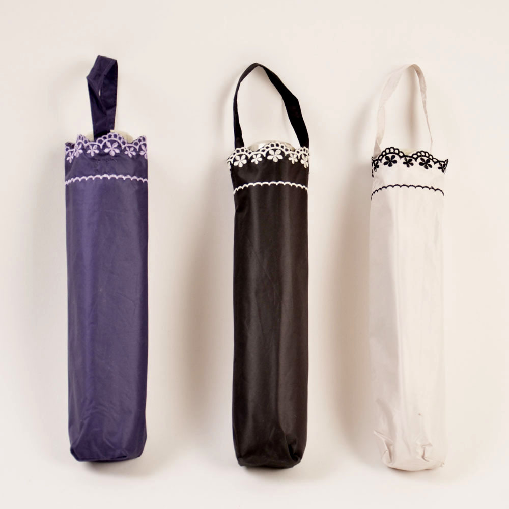 Orders Exported To Japan Foreign Trade Umbrella Wholesale Delicacy Embroidered UV-Protection Anti-UV99 % Or Above Ultra-Light 15