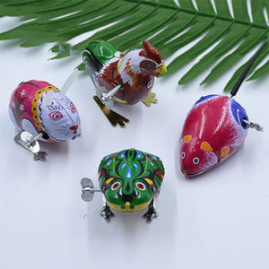 Clockwork Toy Puzzle Jumping Frog Turtle Classic Cock Rabbit Iron Gift Mouse Education