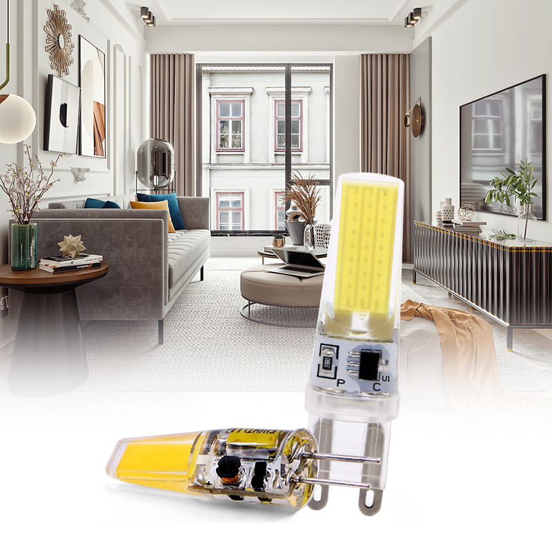Mini G4 LED Lamp G9 3W 6W COB LED Bulb E14 AC DC 12V 220V Lampada LED G4 COB 360 Beam Angle Replace Halogen G4 Chandelier