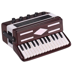 Hot sale Mini Accordion Model Exquisite Desktop Music Instrument Decoration Ornaments Music Gift with Storage Case Dropshipping