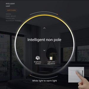 Image 5 - Lámpara de techo Led moderna, 220V, 36W, 72W, regulable, para sala de estar, montada en superficie para cocina y hogar