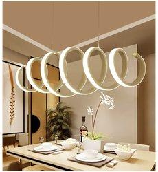 Kreatywny żyrandol w kształcie litery S nowoczesna minimalistyczna restauracja lampa do salonu Post-nowoczesny bar lampa stołowa bezstopniowe przyciemnianie 100cm