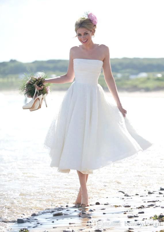 2018 Romantic Short A Line Summer Beach Bridal Gown Short Lace Party Prom Gown Bridal Gown Cheap Bridesmaid Dresses
