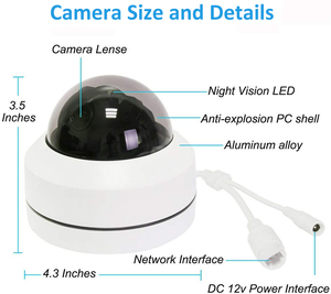 Image 5 - Inesun Outdoor Security Camera 2MP 5MP PoE IP Dome Camera Pan/Tilt 4X Optical Zoom PTZ Camera Waterproof with Motion Detection