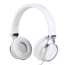 HD200 Wired Headphone with Microphone Fashion Foldable Headset for iPhone Android Laptop