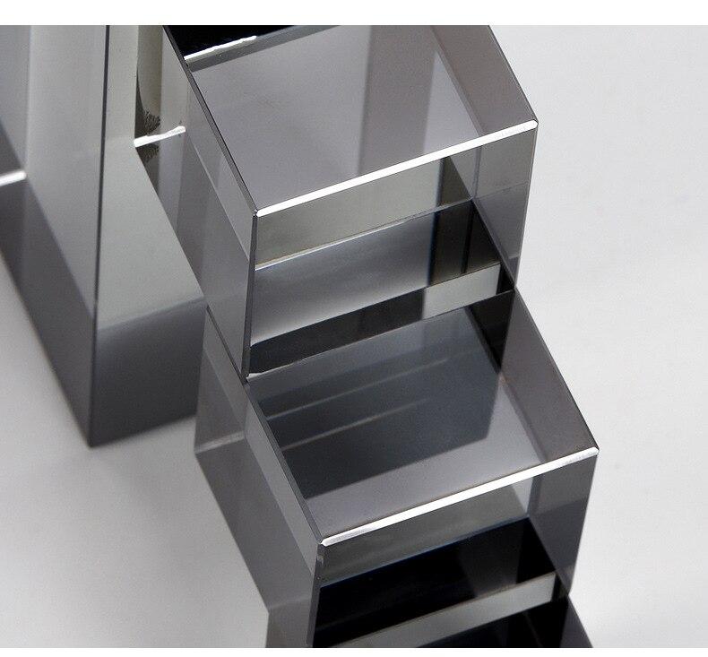 Geométrico cristal bookends decorações simples escada escritório