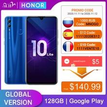 כבוד 10 Lite 128GB הגלובלי גרסה MobilePhone 6.2 אינץ 3400mAh אנדרואיד 9 24MP מצלמה Smartphone עם Google Play OTA עדכון