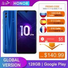 Honor 10 Lite 128GB versione globale cellulare 6.2 pollici 3400mAh Android 9 24MP fotocamera Smartphone con Google Play aggiornamento OTA