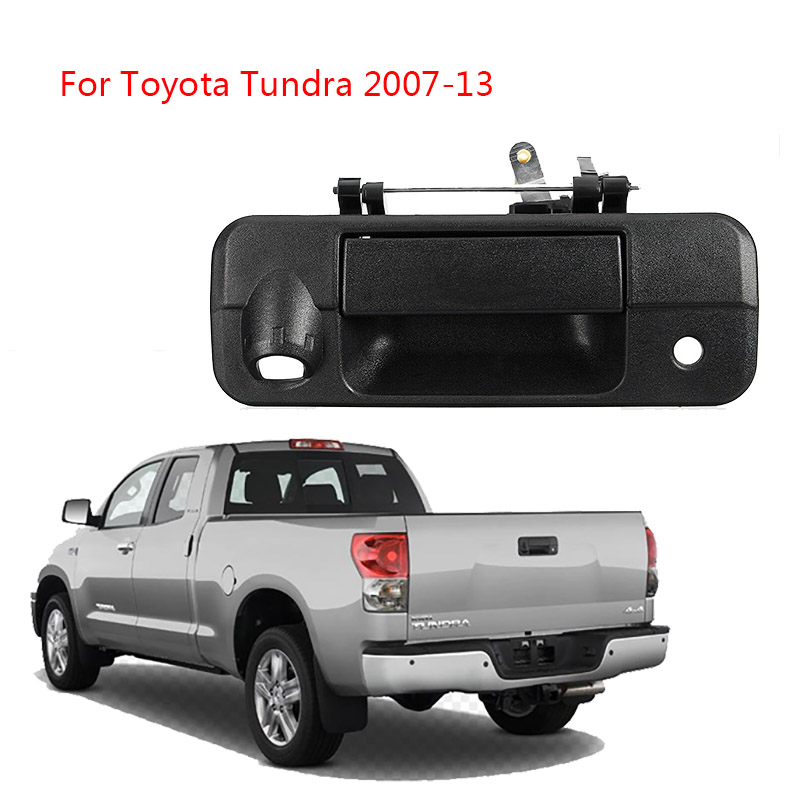 Black Tailgate Handle with Keyhole & Camera Hole For Toyota Tundra 2007 2008-2013 69090-0C040,690900C040,69090-0C051,690900C051