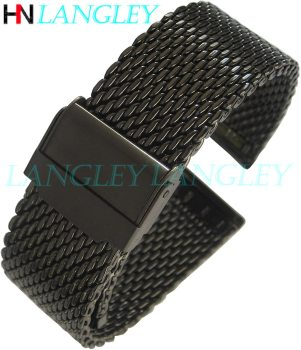 1.0mm Milanese Coarse mesh Stainless Steel Watch Band 3mm Thickness Heavy Wriststrap 18 20 22 24 mm Width Bands with Tool - discount item  40% OFF Watches Accessories