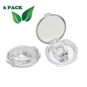 6 шт. силиконовая магнитная защита от храпа зажим для носа Dilatateur носовой зажим с красочной коробкой