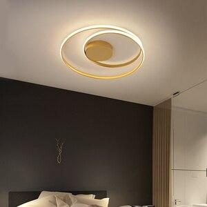 Image 4 - 現代の天井照明ledランプリビングルーム白黒色表面実装天井ランプデコAC85 265V