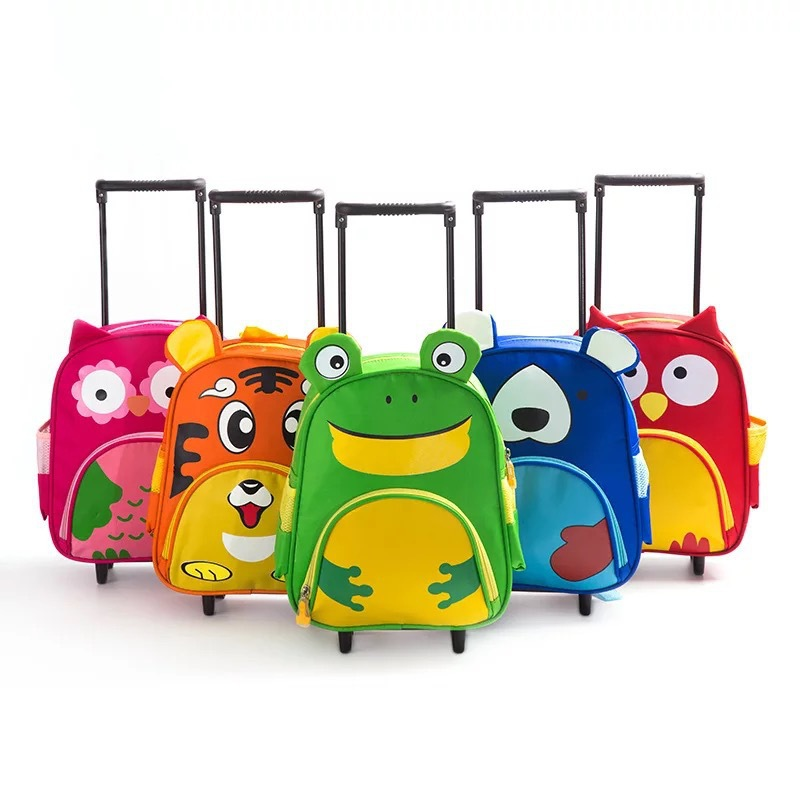 2019 New Style Trolley Bag CHILDREN'S Cartoon Young STUDENT'S Bar Bag Tiger Cartoon Bag