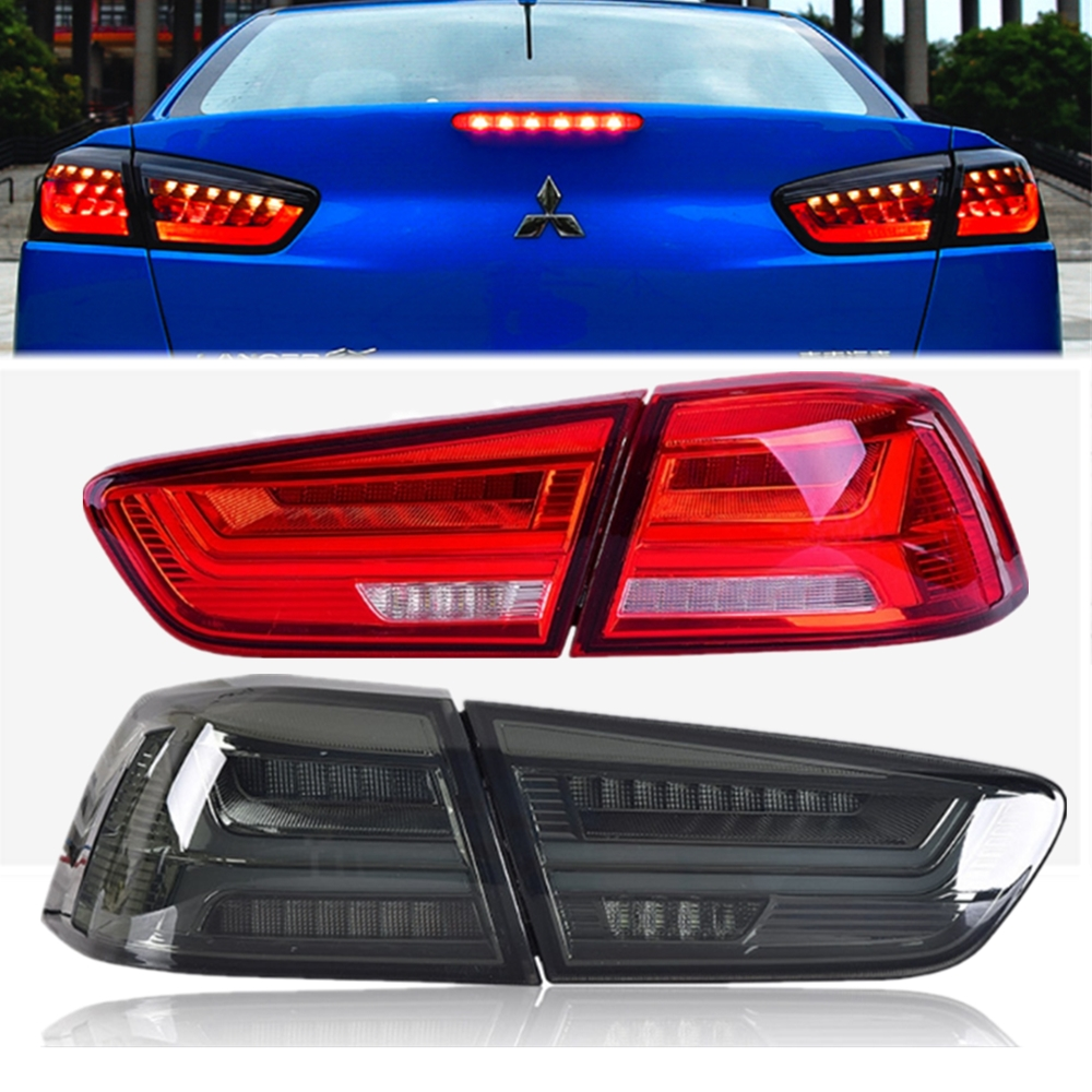 Full Set 12V Car <font><b>LED</b></font> Rear Tail Light Fit for <font><b>Mitsubishi</b></font> <font><b>Lancer</b></font> EVO <font><b>x</b></font> 2008-2017 Turn Signal Light Lamp Left+Right image