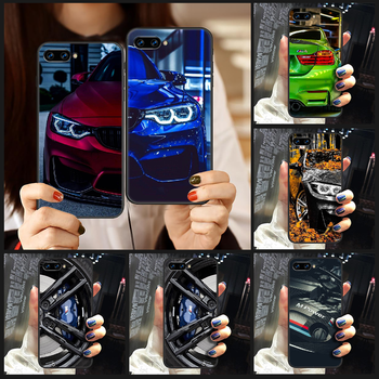Blue Red Car for Bmw Phone Case Cover Hull For HUAWEI honor 8 8c 8a 8x 9 9a 9x V10 MATE 10 20 I lite pro black bumper painting image