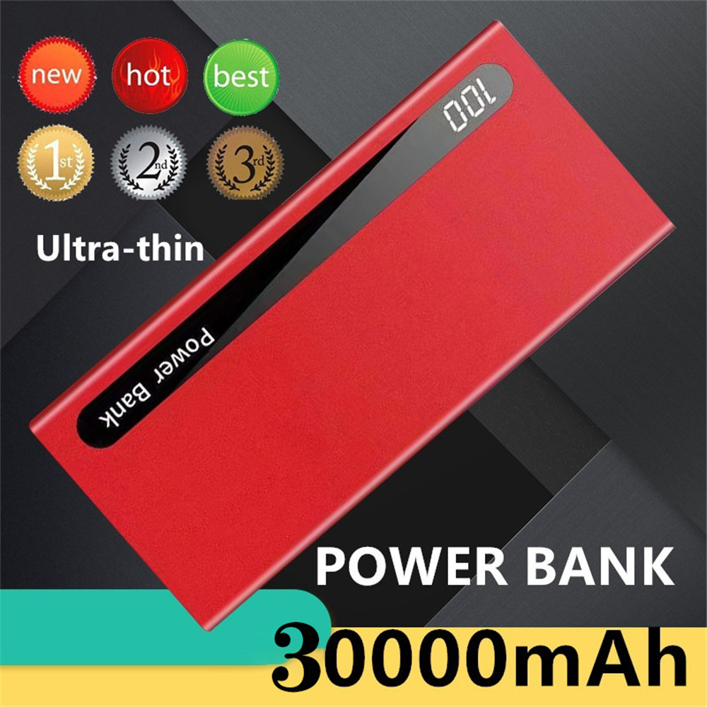 Ultrathin Power Bank 30000mAh Powerbank External Battery Portable Fast Charger For All Smartphone Bank Waterproof