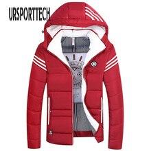 2018 Winter Jacket Men Hat Detachable Warm Coat Cotton-Padded Outwear Mens Coats Jackets Hooded Collar Slim Clothes Thick Parkas цена
