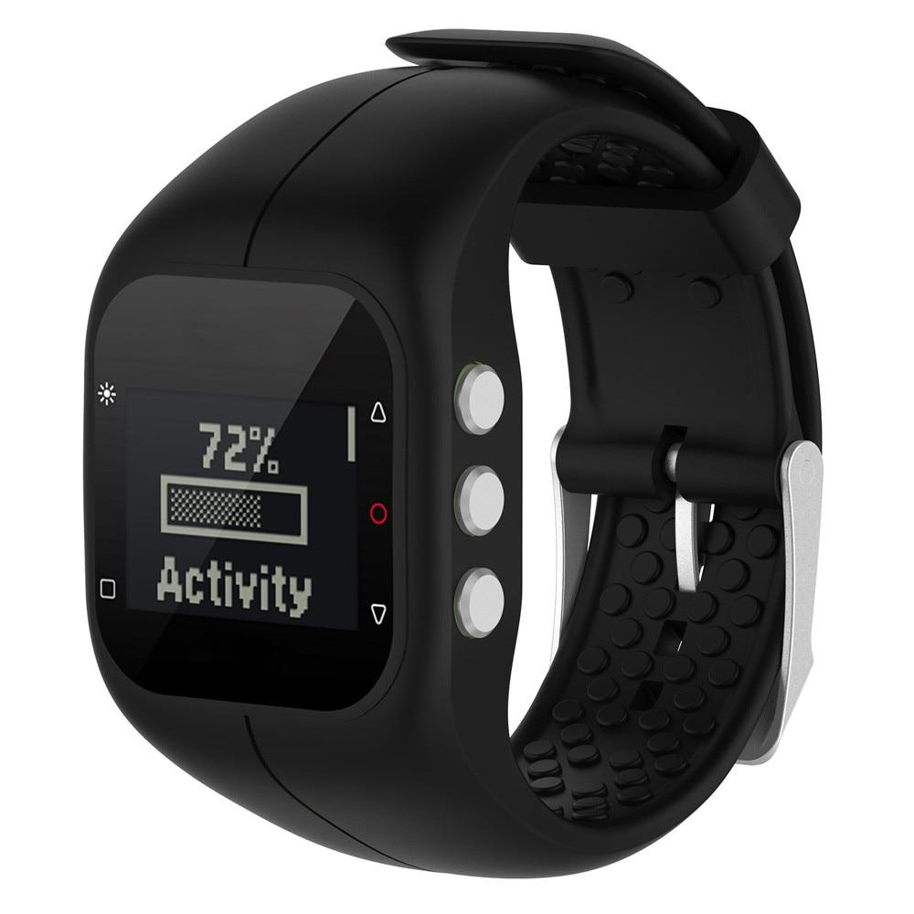 Watch Band Soft Silicone Sports Band Fashion Rubber Watch Band Wrist Strap For Polar A300 Fitness Watch ремешок для часов